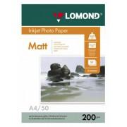 Бумага Lomond A4 200г/м2 50л.,матовая 2х сторонняя (0102033)