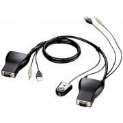 Автопереключатель D-Link KVM-221 2port USB KVM Switch with cables