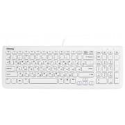 Клавиатура Chicony KU-0902-W USB, тонкая, компактная, глянцево-белая