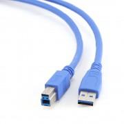 Кабель USB 3.0 Pro Gembird CCP-USB3-AMBM-10, AM/BM, 3м, позол.конт., синий, пакет