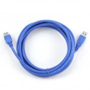 Кабель удлинитель USB3.0 Pro Gembird CCP-USB3-AMAF-10, AM/AF, 3м, позол.конт., синий, пакет