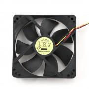 Вентилятор Gembird FANCASE3/BALL, 120x120x25, подшипник, 3 pin, провод 30 см