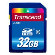 ФЛЕШ КАРТА SDHC 32GB CLASS6 TRANSCEND (TS32GSDHC6)