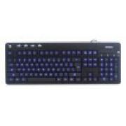 КЛАВИАТУРА A4 KD-126-1 X-SLIM LED BLACKLIGHT KEYBOARD USB BLUE