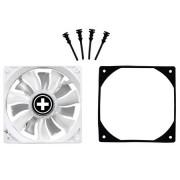 Вентилятор 80x80x25 корпусной XILENCE DualWing XQ 80мм белый ЛЕД/12В/ 3+4пин/ритейл/винты