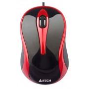 МЫШЬ A4 N-350-2 V-TRACK PADLESS USB BLACK+RED