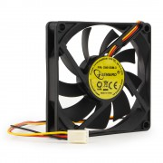 Вентилятор Gembird D8015SM-3, 80x80x15, втулка, 3 pin, провод 30 см