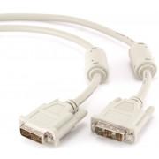 Кабель DVI-D singl link Gembird, 1.8m, 19M/19M, экран, феррит. кольца, пакет CC-DVI-6C