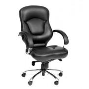 Офисное кресло CH430 кожа\кз,черный