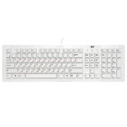Клавиатура BTC 6311U-W USB, белая, ультратонкая, 4 доп.клавиши