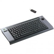 Клавиатура беспроводная BTC 9039ARFIII, USB, черная, мини, низкопрофильная, трекбол + 17 доп.кл