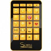 Клавиатура Simple S12, 24 кл. (смайлы на цифровом блоке) USB S12