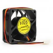 Вентилятор Gembird, 60x60x25, втулка, 3 pin, провод 25 см