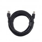 Кабель USB 2.0 Pro Gembird/Cablexpert CCF2-USB2-AMBM-15, AM/BM, 4.5м, экран,2феррит.кольца, черный, пакет
