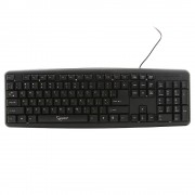 Клавиатура Gembird KB-8320-BL, черный, PS/2, 104 клавиши