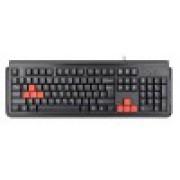 Клавиатура игровая A4-X7-G300-USB, черная, USB, водонепроницаемая