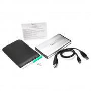 """Внешний корпус 2.5"""" Gembird EE2-U2S-5-S, серебро, USB 2.0, SATA, металл"""