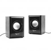 Акустич. система 2.0 Gembird SPK-202, МДФ, черный ,2х3 Вт, регулятор громкости, USB-питание