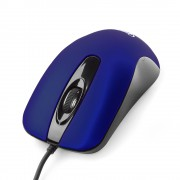 Мышь Gembird MOP-400-B, USB, темно-синий, бесшумный клик, soft-touch, 2кн., 1000DPI, блистер