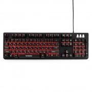Клавиатура игровая Гарнизон GK-300G, металл, 3 различные подсветки, USB, черный, антифантомные и механизированные клавиши