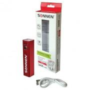 Аккумулятор мобильный SONNEN V61C 2600 mAh литий-ионный серебрист. 262749*