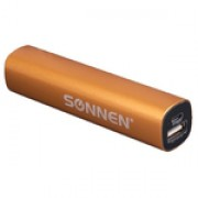 Аккумулятор внешний SONNEN PB-2200 mAh вых.ток 1A золотистый 261905*