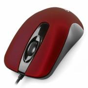 Мышь Gembird MOP-400-R, USB, красный, бесшумный клик, 2 кнопки+колесо кнопка, 1000 DPI, soft-touch, кабель 1.45м, блистер