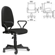 """Кресло оператора """"Престиж"""", регулируемая спинка, с подлокотниками, черное, В-14 530053*"""