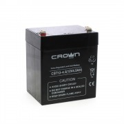 Батарея CROWN Battery voltage 12V, capacity 4.5 A / W, dimensions (mm) 151h65h95, weight 1.5 kg, the type of terminal - the F2, type of battery - Lead-acid with suspended electrolyte gel, the service life of 6 years