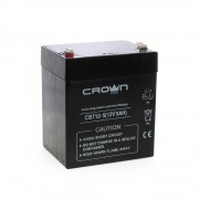 Батарея CROWN Battery voltage 12V, capacity 5 A / W, dimensions (mm) 88x68x100, weight 1.8 kg, the type of terminal - the F1, type of battery - Lead-acid with suspended electrolyte gel, the service life of 6 years