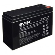 Батарея SVEN SV 1270 (12V 7Ah), 12V voltage, 7A*h capacity, max. discharging rate of 105A, max. charging rate 2.1A, the type of lead-acid AGM, type lead terminal F2