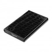 "Внешний корпус 2.5"" Gembird EE2-U2S-70L, черный, USB 2.0, SATA, металл+кожзам, блистер"