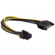 Разветвитель питания Cablexpert CC-PSU-SATA, SATA->PCI-Express 6pin, для подключения в/к PCI-Е (6pin) к б/п ATX