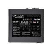 Блок питания Thermaltake ATX 500W Smart RGB 500 80+ (24+4+4pin) APFC 120mm fan color LED 5xSATA RTL